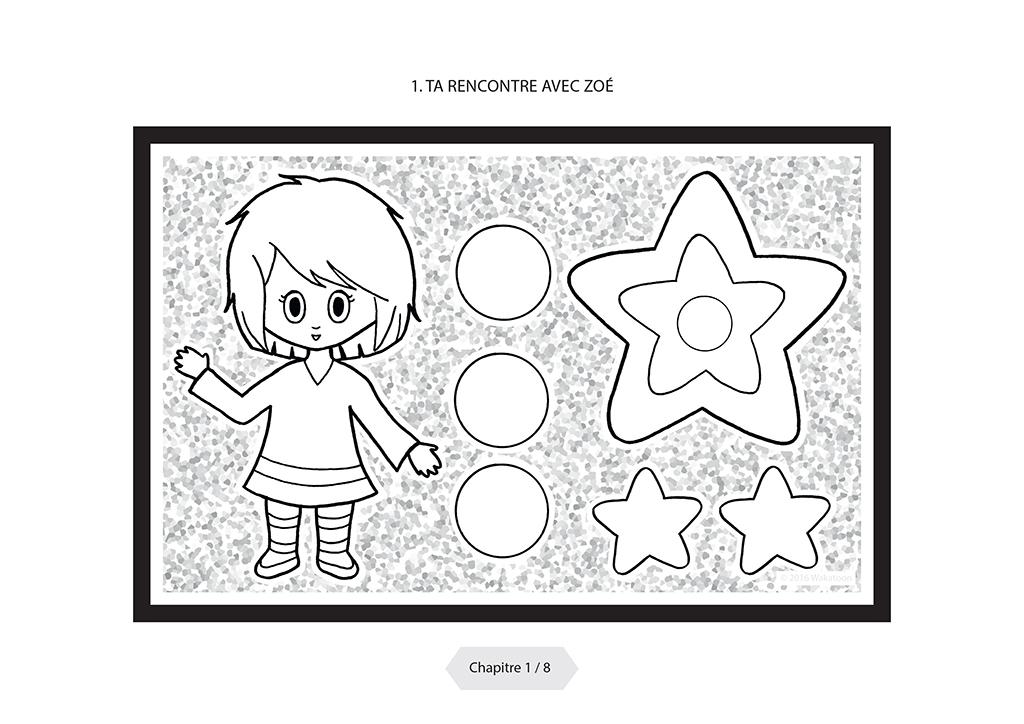 Coloriage anim p re no l un livre magique wakatoon - Coloriage manga livre ...